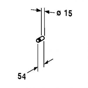 Duravit D-Code Towel Hook – chrome