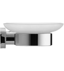Duravit D-Code Soap Dish With Glass Shelf On Left Side – chrome