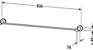 Duravit D-Code 800mm Bath Towel Rail – chrome