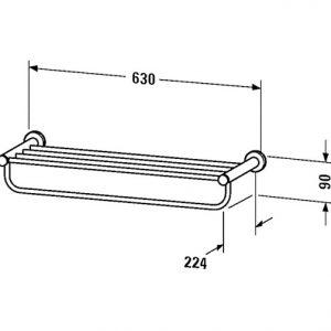 Duravit D-Code Towel Shelf – chrome