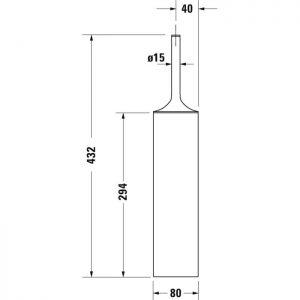 Duravit Stack T Floor Standing Brush set – Chrome