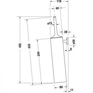 Duravit Stack T Wall Mounted Brush set – Black Matt