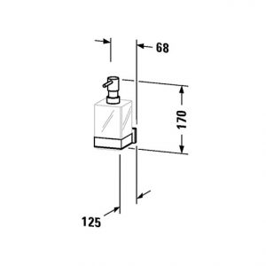 Duravit Karree Wall Mounted Soap Dispenser – Chrome