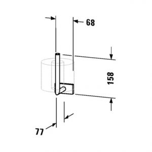 Duravit Karree Spare Toilet Paper Holder – Chrome