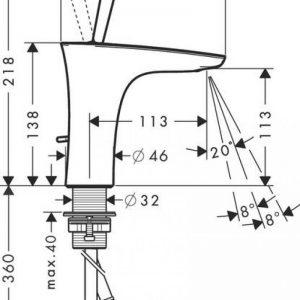 Hansgrohe PuraVida Single Basin Mixer Tap with Pop Up Waste – Chrome
