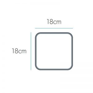 Hib Eclipse Square Magnifying Mirror – 180mm x 180mm