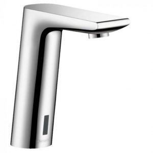 Hansgrohe Metris S Electronic Basin Mixer Tap With Temperature Pre-Adjustment And Mains Connections 230 V