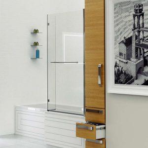 Kudos Inspire L-Shaped Bath Screen 1500mm x 810mm 5mm Glass