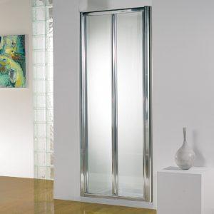 Kudos Original Bi-Fold Shower Door 760mm Wide Silver