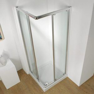 Kudos Original Corner Sliding Shower Door 760mm Wide Silver