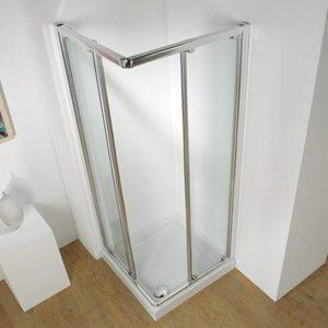 Kudos Original Corner Sliding Shower Door 800mm Wide Silver