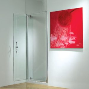 Kudos Original Pivot Shower Door 900mm Wide Silver