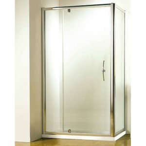 Kudos Original Pivot Shower Door 1200mm Wide 6mm Thick Silver
