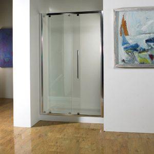 Kudos Original Sliding Shower Door 1000mm 6mm Thick Silver