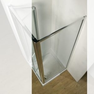 Kudos Original Standard Side Panel For Shower Door 900mm Wide Silver