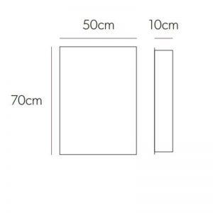 HiB Callisto Non Illuminated mirror Cabinet – 500mm Wide