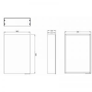 HiB Eris 40 Non Illuminated mirror Cabinet – 400mm Wide
