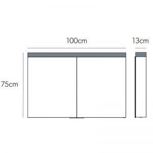 HiB Apex 100 Illuminated mirror Cabinet – 1000mm Wide