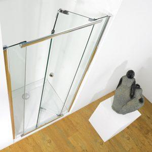 Kudos Infinite Semi-frameless Bi-Fold Shower Door 900mm Wide Silver