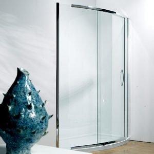 Kudos Infinite Silver Side Access Bowed Sliding Door 1500mm Wide