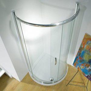 Kudos Infinite Centre Access Semi-Frameless Curved Sliding Shower Door 1000mm Wide