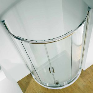 Kudos Infinite Side Access Offset Curved Sliding Door Shower Enclosure 1200mm x 910mm