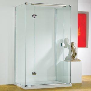 Kudos Infinite Semi-frameless Left Hand Hinged Shower Door 1000mm