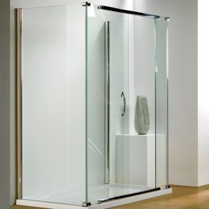 Kudos Infinite Silver Side Access Straight Sliding Door 1500mm Wide
