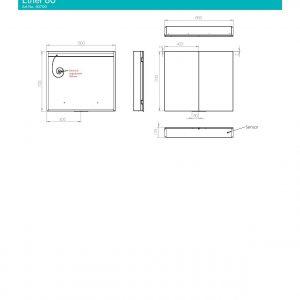 HiB Ether 80 Illuminated mirror Cabinet – 800mm Wide