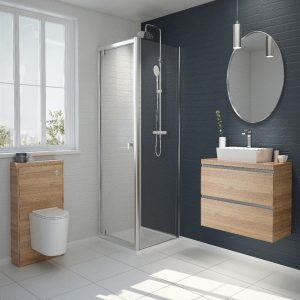 Kudos Original6 High Bi-Folding Shower Side Panel 1950mm X 700mm Chrome
