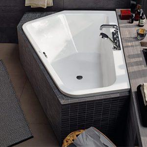 Duravit Paiova Left corner Bath – 1770mm x 1300mm – White Alpin