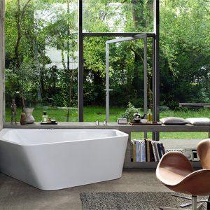 Duravit Paiova Right corner Bath – 1770mm x 1300mm – White Alpin