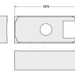 Duravit Styrene Support Frame For 1700 X 750mm Central Outlet Bath