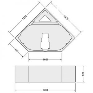 Duravit Styrene Corner Bath Tub Support Frame