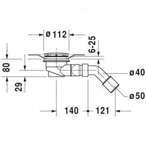 Duravit D Code -Shower Outlet Drain