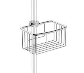 HIB Shower basket Clip on riser rail – 230mm Wide – Chrome