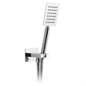 Vado Aquablade Square Single Function Mini Shower Kit With Integrated Outlet Chrome