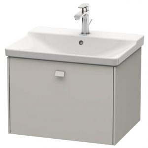 Duravit Brioso 1 Drawer Vanity Unit With Basin – 650mm – No TH – Concrete Grey Matt