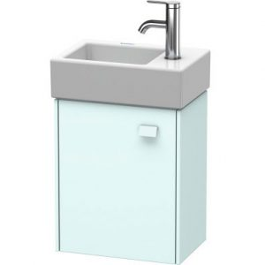 Duravit Brioso 1 Door Vanity Unit With Basin – 380mm – RH – 1 TH – Chrome/Light Blue Matt