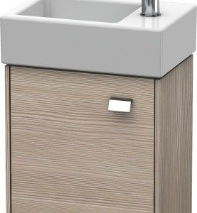 Duravit Brioso 1 Door Vanity Unit With Basin – 380mm – RH – 1 TH – Chrome/Pine Silver