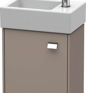 Duravit Brioso 1 Door Vanity Unit With Basin – 380mm – RH – 1 TH – Chrome/Basalt Matt