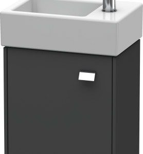 Duravit Brioso 1 Door Vanity Unit With Basin – 380mm – RH – 1 TH – Chrome/Graphite Matt