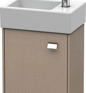 Duravit Brioso 1 Door Vanity Unit With Basin – 380mm – RH – 1 TH – Chrome/Linen