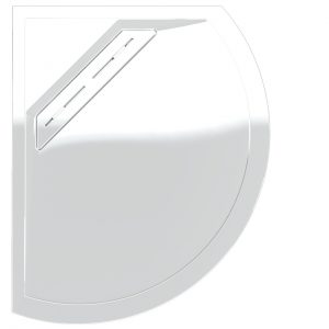 Kudos Connect2 Offset Curved Shower Tray Left Handed 1000 x 810mm