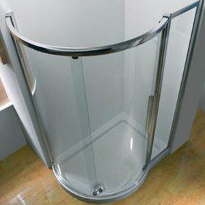 Kudos Original Offset Quadrant Shower Tray LH 1000mm x 810mm High Gloss