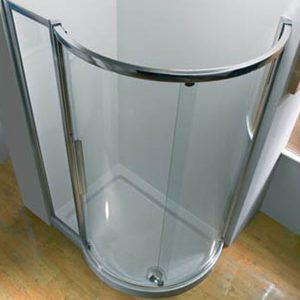 Kudos Original Offset Quadrant Shower Tray RH 1000mm x 810mm High Gloss