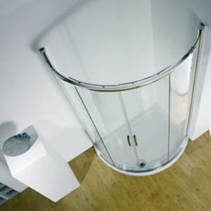 Kudos Infinite Offset Curved Shower Tray Left 1200x910x55mm