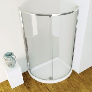 Kudos Infinite Offset Curved Shower Tray Right 1200x910x55mm