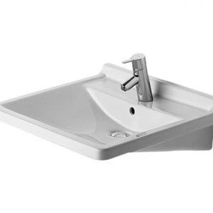 Duravit Starck 3 Wall Hung Basin With Overflow – 600mm Wide – 1 Tap Hole – Wonder Gliss