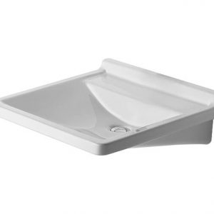 Duravit Starck 3 Wall Hung Basin – 600mm Wide – 1 Tap Hole – White